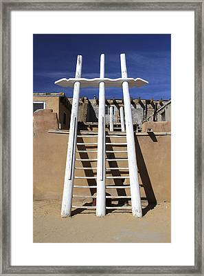 The Ladder Acoma Pueblo Framed Print by Mike McGlothlen