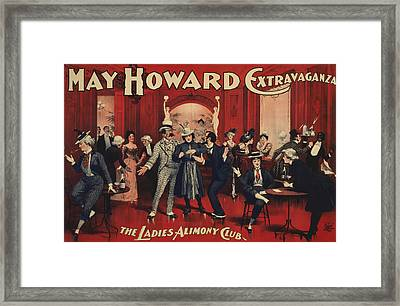 The Ladies Alimony Club Framed Print by Aged Pixel
