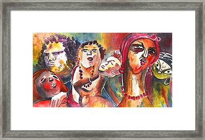 The Ladies Of Loket In The Czech Republic Framed Print by Miki De Goodaboom