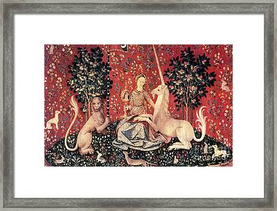 The Lady And The Unicorn, 15th Century Framed Print by Photo Researchers
