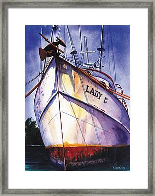 The Lady C Framed Print by Chuck Creasy