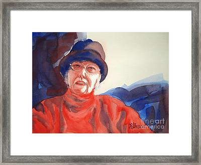 The Lady In Red Framed Print by Kathy Braud