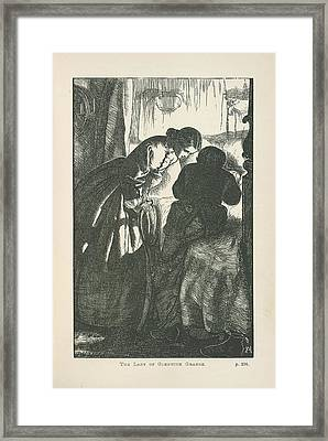The Lady Of Glenwith Grange Framed Print by British Library