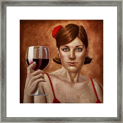 The Lady Red Framed Print by Mark Zelmer