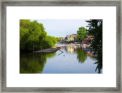 The Lagoon - Boathouse Row Framed Print by Bill Cannon