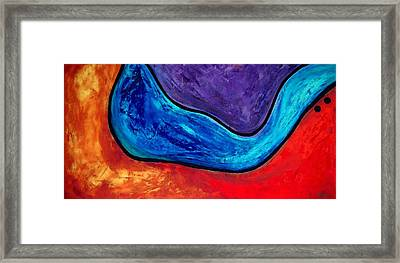 The Lake - Abstract Art By Sharon Cummings Framed Print by Sharon Cummings