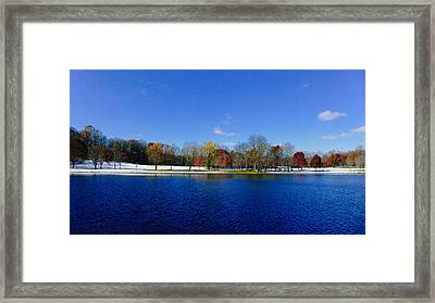 The Lake At Munroe Falls Park Framed Print by Jeff Picoult