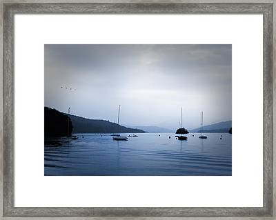The Lakes Framed Print by Martin Newman