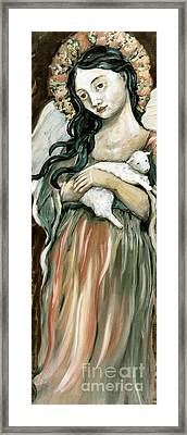 The Lamb Framed Print by Carrie Joy Byrnes