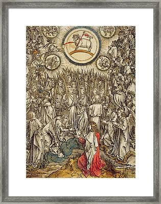 The Lamb Of God Appears On Mount Sion, 1498  Framed Print by Albrecht Durer or Duerer