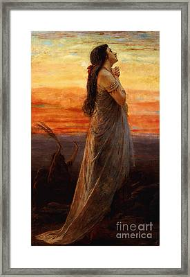 The Lament Of Jephthahs Daughter Framed Print by George Elgar Hicks