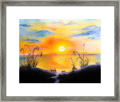The Land Of The Dying Sun Framed Print by Nirdesha Munasinghe