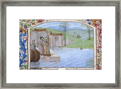 The Landing Of Alfred Framed Print by British Library