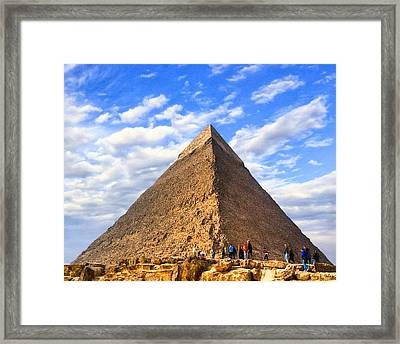 The Last Ancient Wonder - Egyptian Pyramid Framed Print by Mark E Tisdale