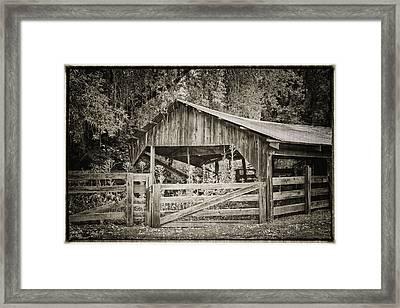The Last Barn Framed Print by Joan Carroll