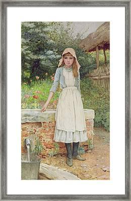The Last Chore Framed Print by Edward Killingworth Johnson