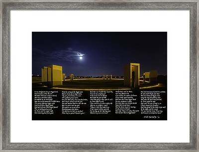 The Last Corps Trip Framed Print by David Morefield