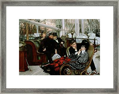 The Last Evening, 1873 Oil On Canvas Framed Print by James Jacques Joseph Tissot