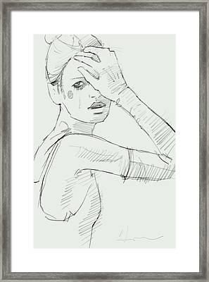 The Last Look Framed Print by H James Hoff