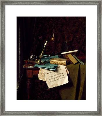 The Last Rose Of Summer, 1886 Oil On Canvas Framed Print by William Michael Harnett