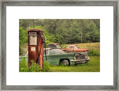 The Last Round Up Framed Print by Bill Cannon