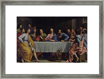 The Last Supper Framed Print by Philippe de Champaigne