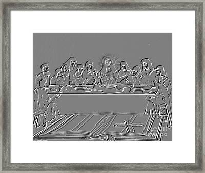 The Last Supper Framed Print by Belinda Threeths