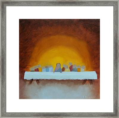 The Last Supper Framed Print by Elise Boysaw