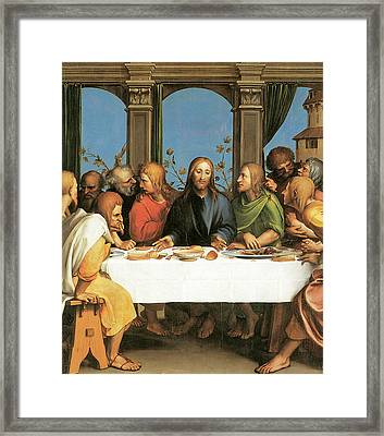 The Last Supper Framed Print by Hans Holbein the Younger
