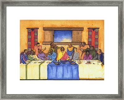 The Last Supper II Framed Print by Lynn Darnelle