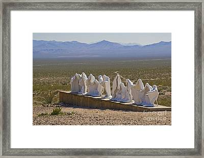 The Last Supper In Rhyolite Ghost Town Framed Print by Ellen Thane