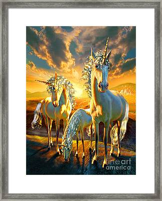 The Last Unicorns Framed Print by Adrian Chesterman