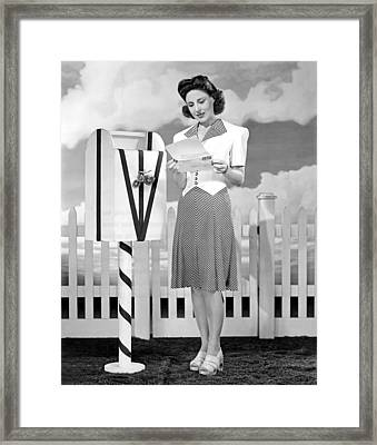 The Latest In Sport Dresses For The Forties Framed Print by Underwood Archives