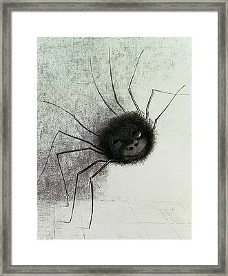The Laughing Spider Framed Print by Odilon Redon