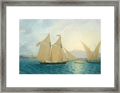 The Launch La Sociere On The Lake Of Geneva Framed Print by Francis  Danby