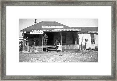 The Law West Of The Pecos Framed Print by Underwood Archives