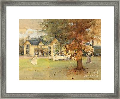 The Lawn Tennis Party Framed Print by Arthur Melville