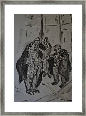 The Lawyers Framed Print by Daniele Fedi