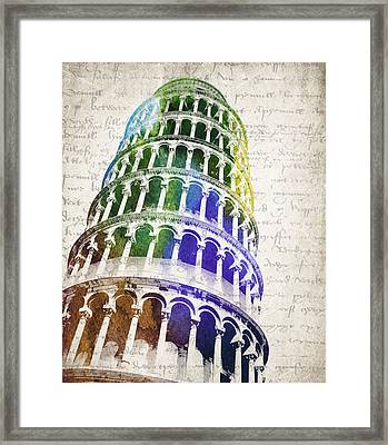 The Leaning Tower Of Pisa Framed Print by Aged Pixel