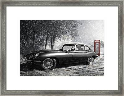 the legendary E-Type Framed Print by Joachim G Pinkawa