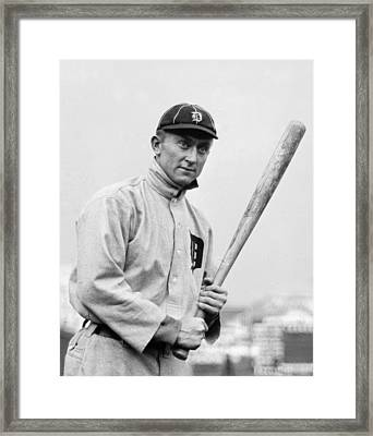 The Legendary Ty Cobb Framed Print by Gianfranco Weiss