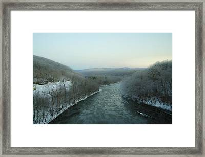 The Lehigh River - Jim Thorpe Pa Framed Print by Bill Cannon
