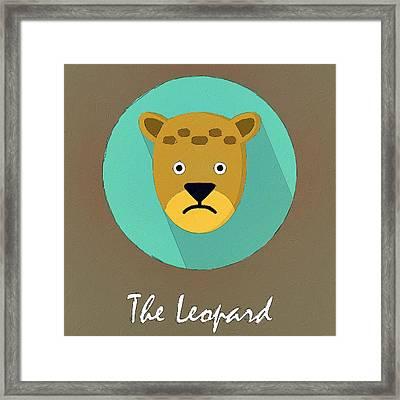 The Leopard Cute Portrait Framed Print by Florian Rodarte