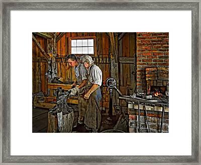 The Lesson Framed Print by Steve Harrington
