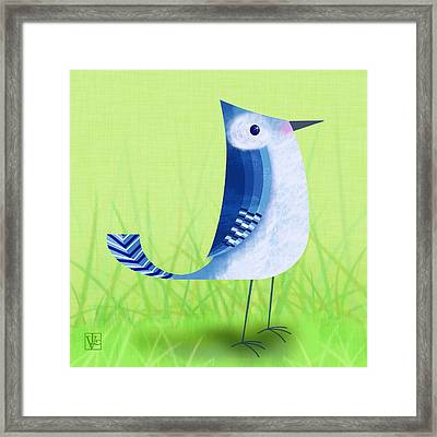 The Letter Blue J Framed Print by Valerie Drake Lesiak