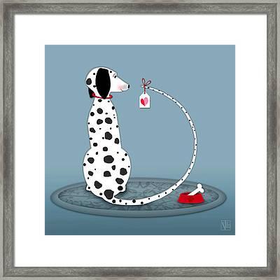 The Letter D For Dalmatian Framed Print by Valerie Drake Lesiak