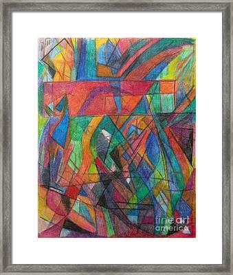 The Letter Dalet 2 Framed Print by David Baruch Wolk
