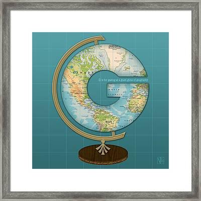 The Letter G Framed Print by Valerie Drake Lesiak