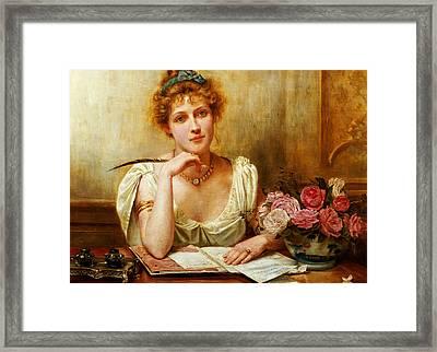 The Letter  Framed Print by George Goodwin Kilburne