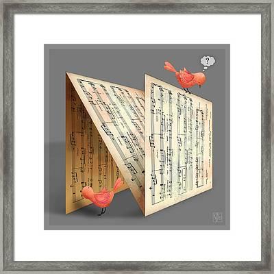 The Letter N Framed Print by Valerie Drake Lesiak